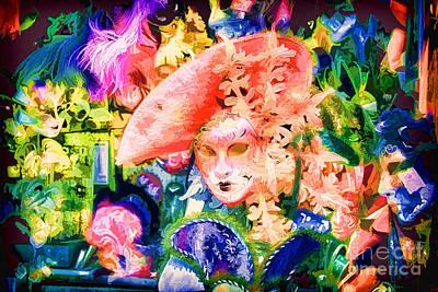Masks Of Venice 28 Art Print