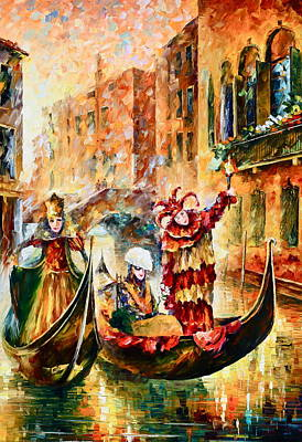 Carnaval Painting - Masks Of Venice by Leonid Afremov