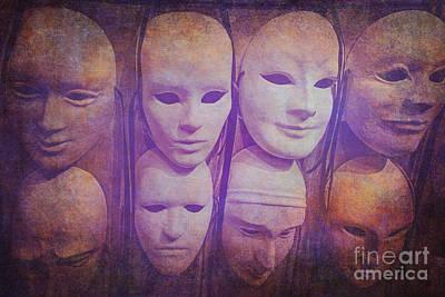 Voodoo Shop Wall Art - Photograph - Masks On A Wall by Danilo Piccioni
