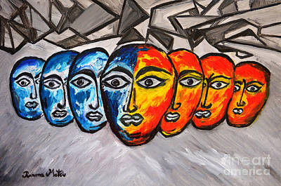 Painting - Masks by Ramona Matei