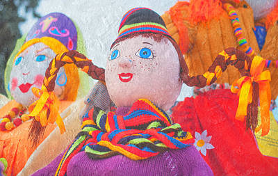 Photograph - Maslenitsa Dolls. Russia by Jenny Rainbow