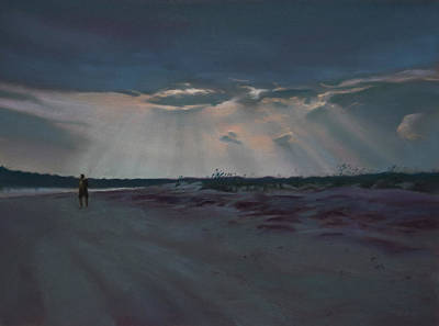 Shore Painting - Masonboro Thunderstorm by Christopher Reid