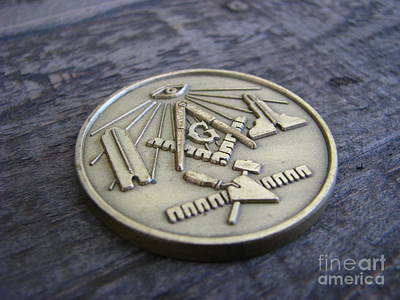 Masonic Medal Art Print
