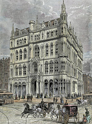 Masonic Temple Opened In 1867 Art Print by Prisma Archivo