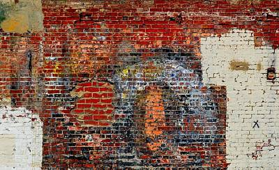 Photograph - Masonry Mural 1 by Nadalyn Larsen