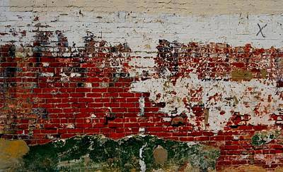 Photograph - Masonry Mural 3 by Nadalyn Larsen