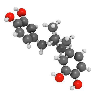 Masoprocol Skin Cancer Drug Molecule Art Print by Molekuul
