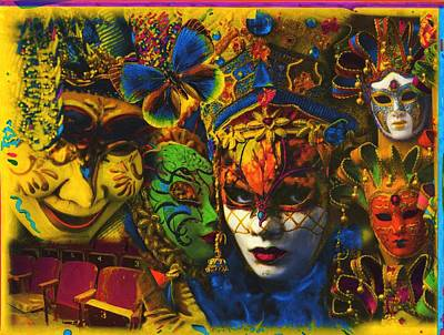 Mardi Gras Painting - Masquerade #7 by Anthony Whelihan