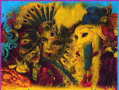 Mardi Gras Painting - Masquerade by Anthony Whelihan