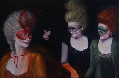 Painting - Masquerade by Junko Van Norman