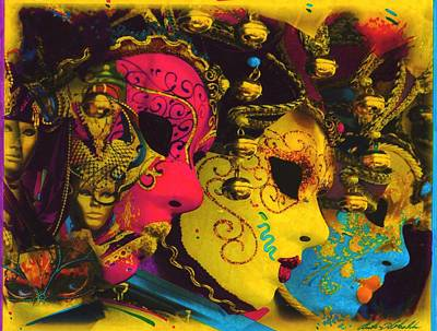 Mardi Gras Painting - Masquerade Series by Anthony Whelihan