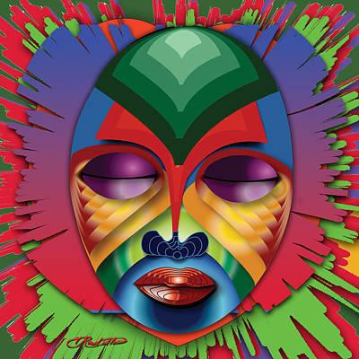 Blackart Digital Art - Masquerade by Vernon Rowlette
