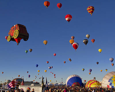 Hot Air Balloon Photograph - Mass Ascension by Gary Holmes