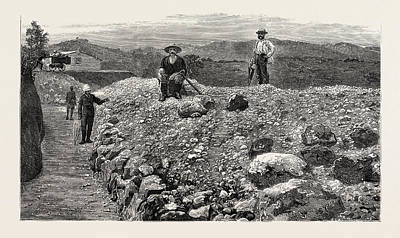 Mass Of Quartz Excavated From No Art Print by English School