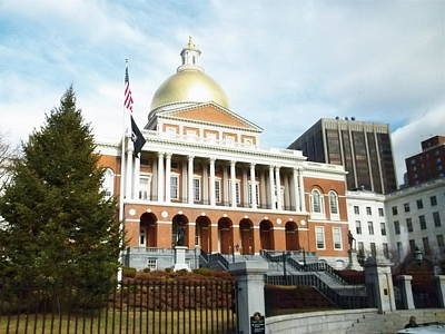 Photograph - Mass State House by Georgia Hamlin