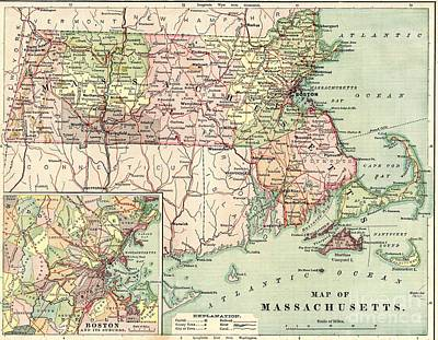 Massachusetts 1876 Original by Steven Parker