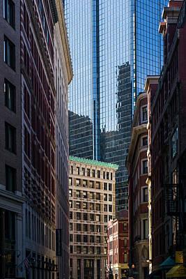 Boston Financial District Photograph - Massachusetts, Boston, Financial by Walter Bibikow