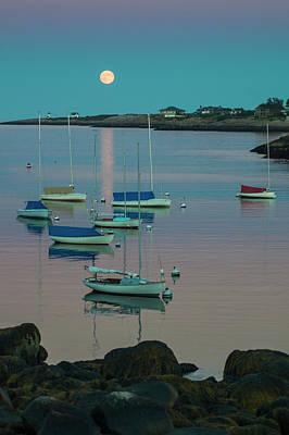 Rockport Photograph - Massachusetts, Cape Ann, Rockport by Walter Bibikow
