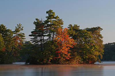 Landscapes Photograph - Massachusetts Lake Cochituate by Juergen Roth