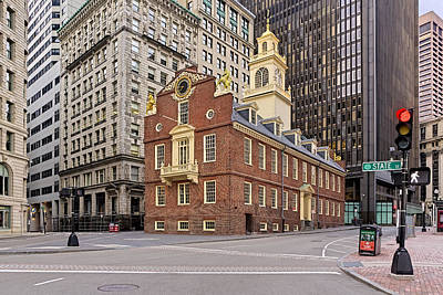 Photograph - Massachusetts Old State House by Susan Candelario