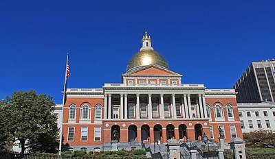 Photograph - Massachusetts State House 1 by Michael Saunders