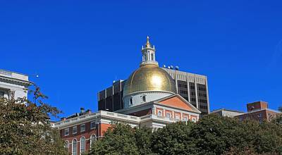 Photograph - Massachusetts State House 2 by Michael Saunders
