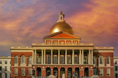 Massachusetts State House Art Print