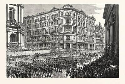 Massachusetts The Boston Celebration, The Twenty-third Art Print by American School