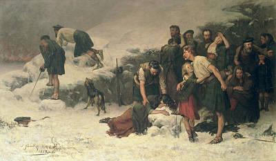 Tartan Painting - Massacre Of Glencoe, 1883-86 by James Hamilton
