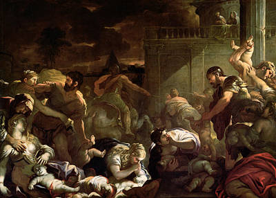 Massacre Of The Innocents Art Print by Luca Giordano