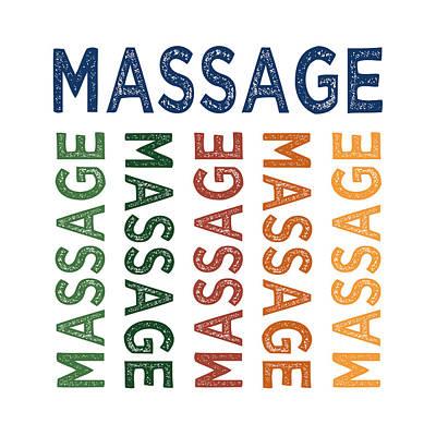Massaging Digital Art - Massage Cute Colorful by Flo Karp