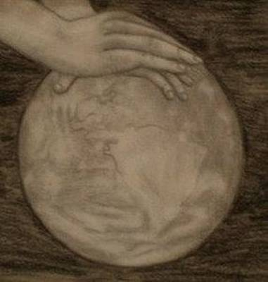 Drawing - Massage The World by Thomasina Durkay