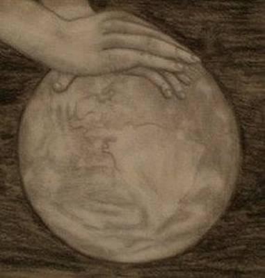 Drawing - Massage The World by Thomasina Durkay