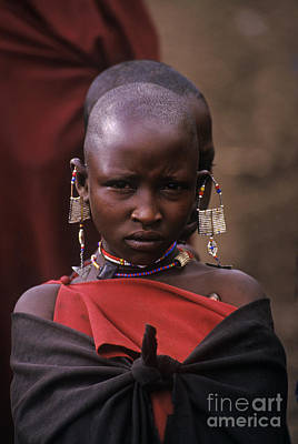 Photograph - Massai Girl - Tanzania by Craig Lovell