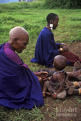 Photograph - Massai Women And Child - Tanzania by Craig Lovell