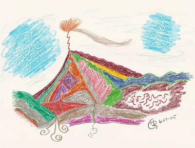 Drawing - Massanutten by Mark David Gerson