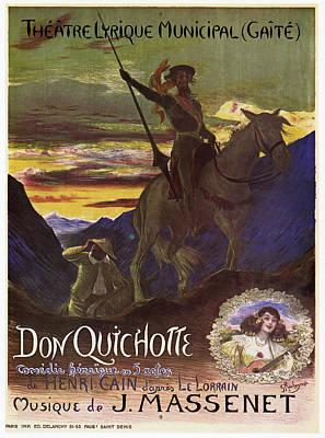 Don Quixote Painting - Massenet Don Quichotte by Granger