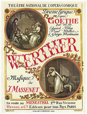 Goethe Painting - Massenet 'werther', 1892 by Granger