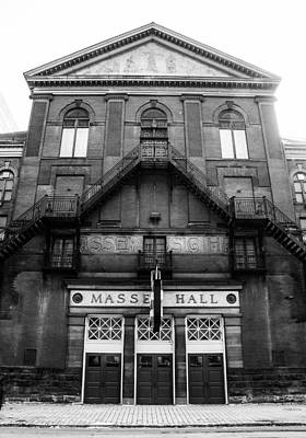 Massey Hall Wall Art - Photograph - Massey Hall - Front Facade - Black And White by Rosemary Legge