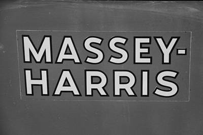 Photograph - Massey Harris by Dan Sproul