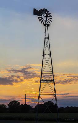 Massey Windmill Silhouette Art Print by Brian Wallace