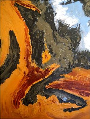 Birdseye View Painting - Massifs In The Desert by Danielle Valdes Jimenez