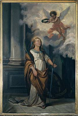 Massimo Diodato, St Catherine Art Print by Everett