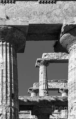 Photograph - Massive Columns Of Paestum by Prints of Italy