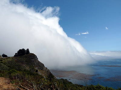 Photograph - Massive Fog Bank Blue Sky by Jeff Lowe
