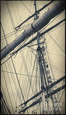 Digital Art - Mast And Rigging Postcard by Tim Richards