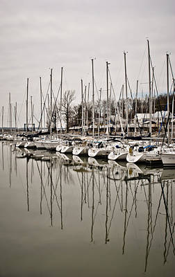 Photograph - Mast Reflections by Greg Jackson