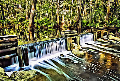 Digital Art - Masten Dam P by Patrick M Lynch