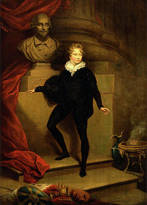 Master Betty As Hamlet, Before A Bust Of Shakespeare Art Print