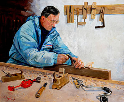 Painting - Master Bukaci by Sefedin Stafa